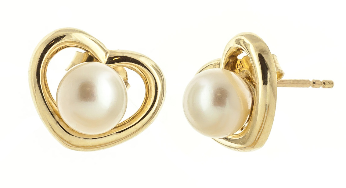 Pearl Stud Earrings 4.0ctw in 9ct Gold