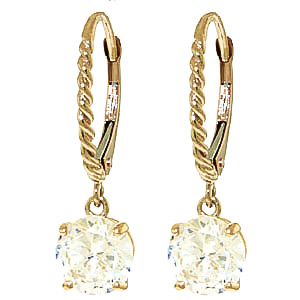 Cubic Zirconia Drop Earrings 4.5ctw in 9ct Gold