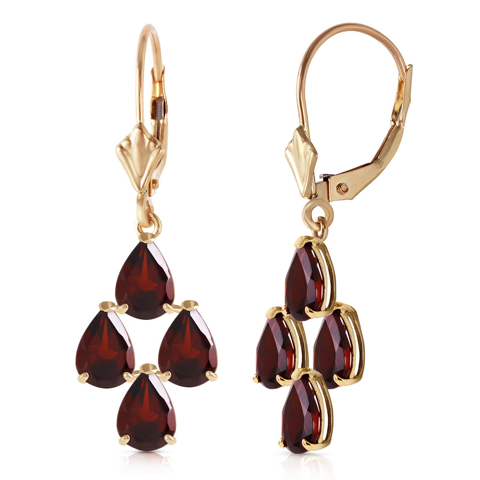Garnet Drop Earrings 4.5ctw in 9ct Gold