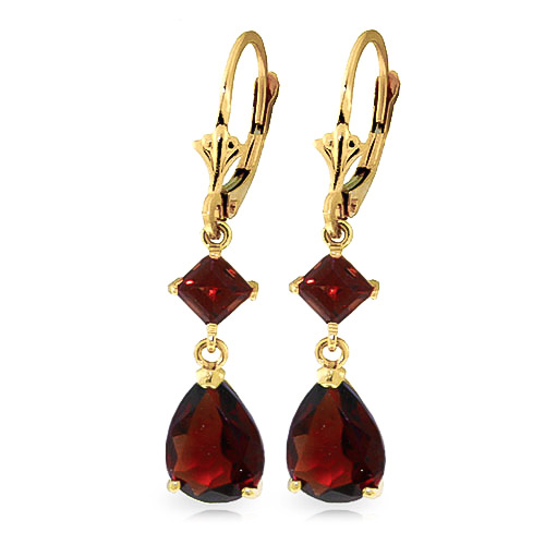 Garnet Droplet Earrings 4.5ctw in 9ct Gold