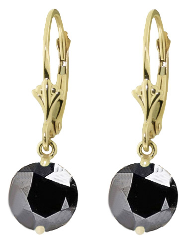Cubic Zirconia Drop Earrings 4.75ctw in 9ct Gold