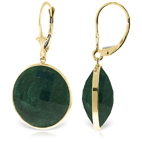 Corundum Drop Earrings 46.0ctw in 9ct Gold