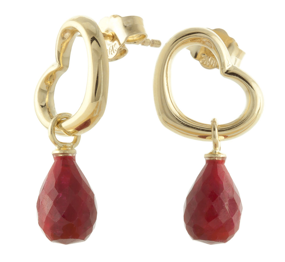 Ruby Stud Earrings 6.6ctw in 9ct Gold