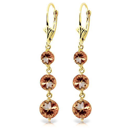 Citrine Trinity Drop Earrings 7.2ctw in 9ct Gold