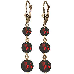 Garnet Trinity Drop Earrings 7.2ctw in 9ct Gold