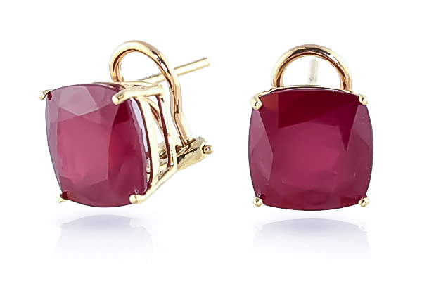 Ruby Stud Earrings 9.4ctw in 9ct Gold
