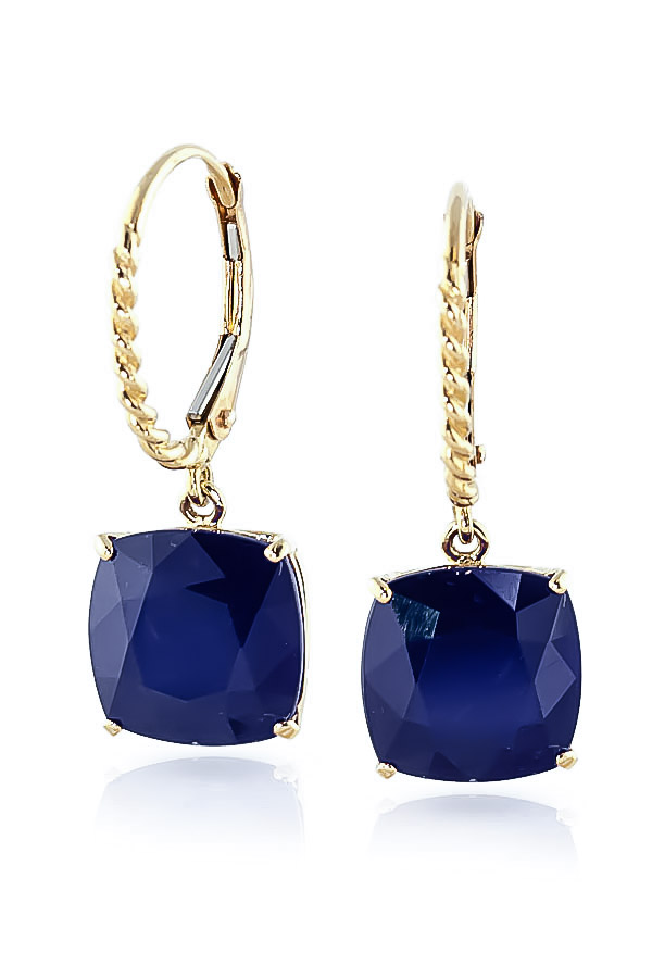 Sapphire Rococo Twist Drop Earrings 9.66ctw in 9ct Gold