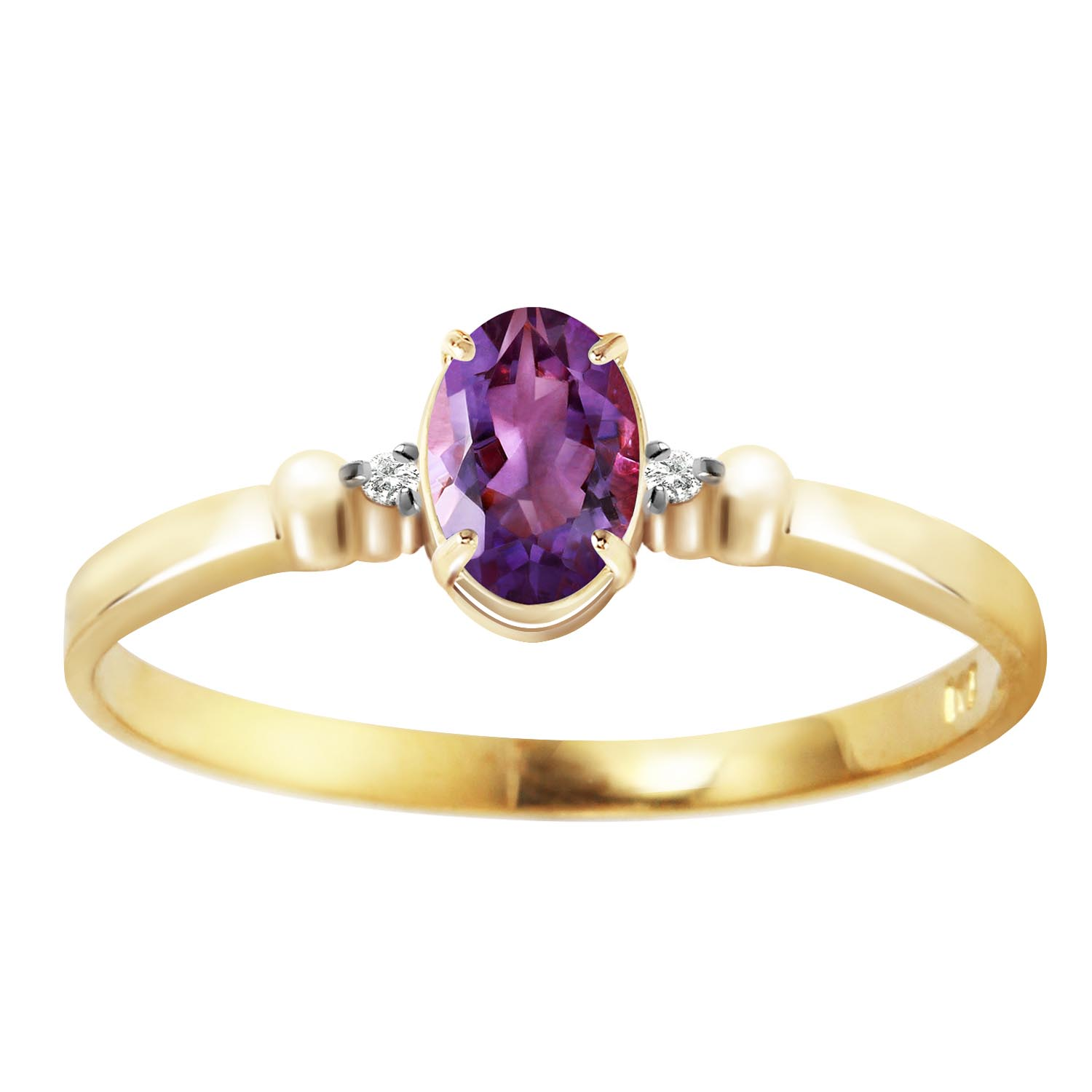 Stockists of Amethyst and Diamond Allure Ring 0.45ct in 9ct Gold