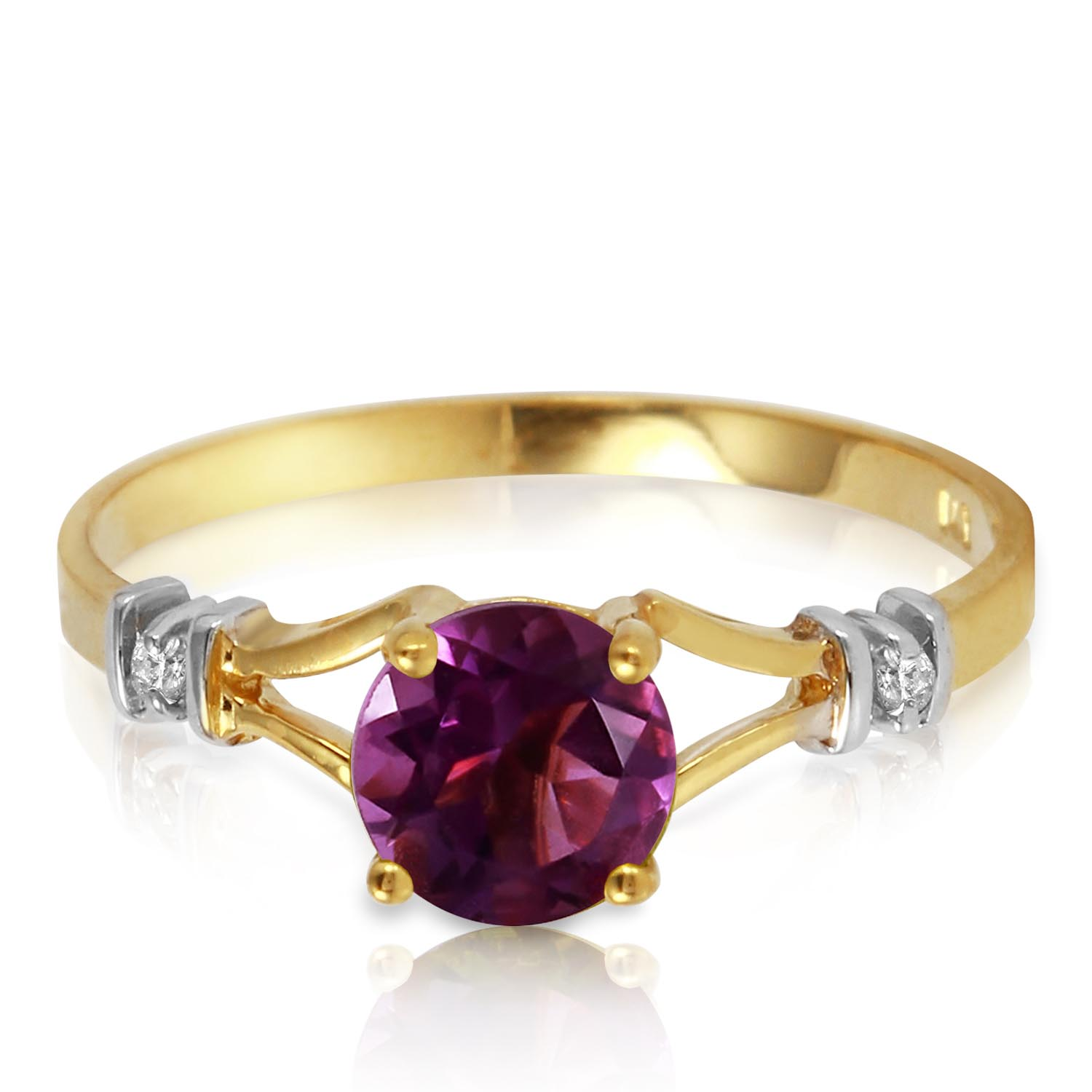Amethyst and Diamond Aspire Ring 0.9ct in 9ct Gold
