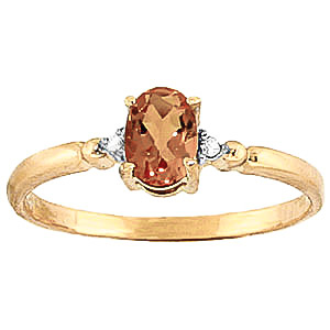 Citrine and Diamond Allure Ring 0.45ct in 9ct Gold