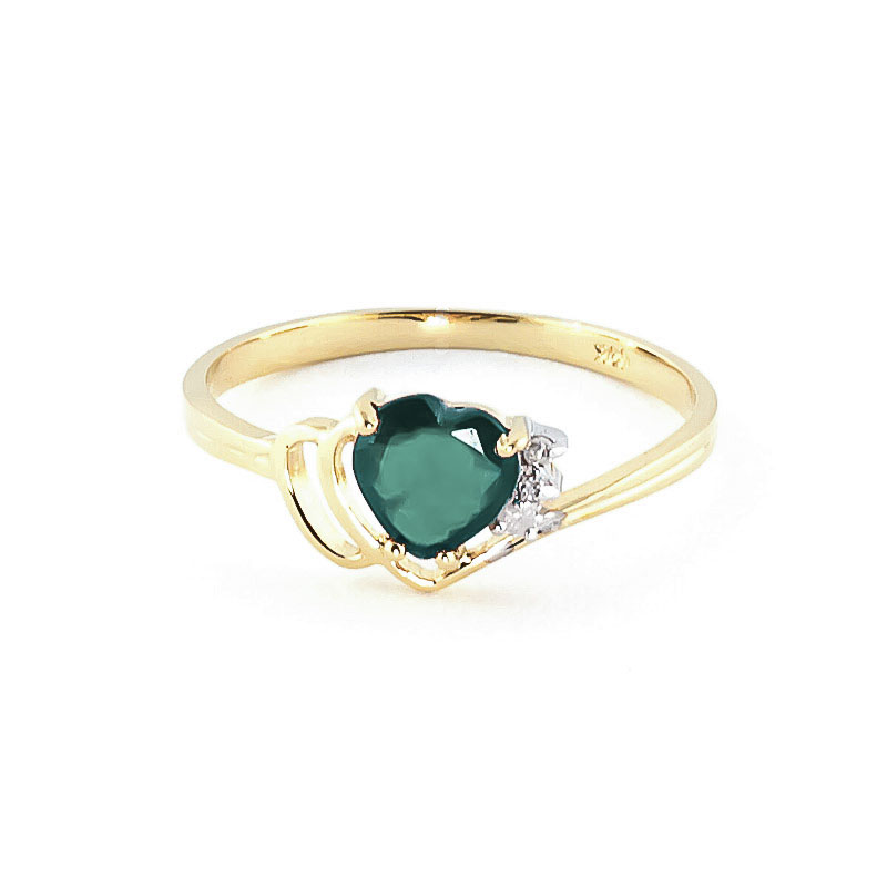Emerald and Diamond Devotion Ring 1.0ct in 9ct Gold