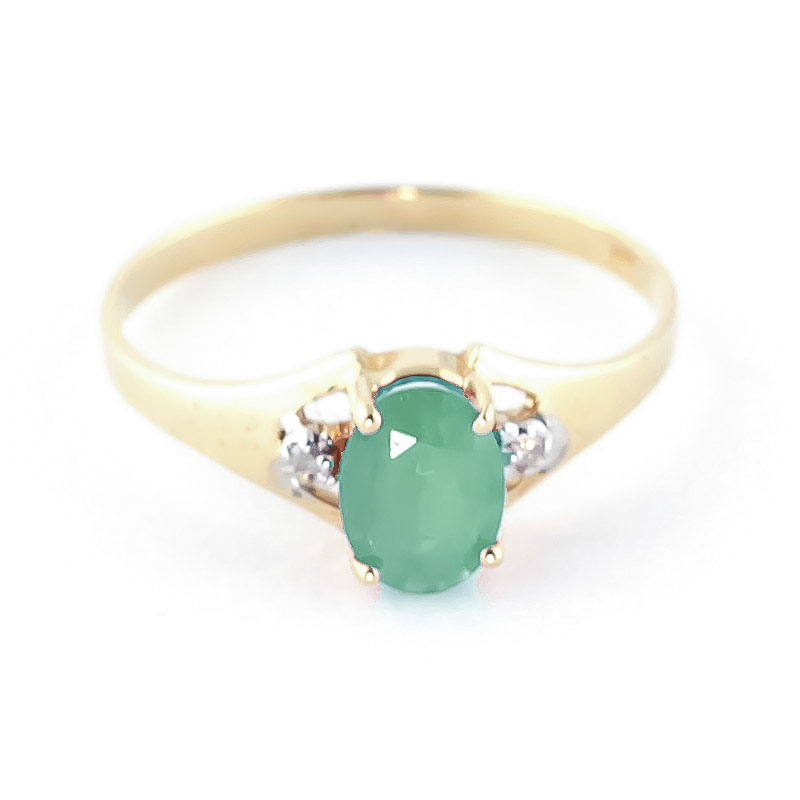 Emerald and Diamond Desire Ring 1.25ct in 9ct Gold