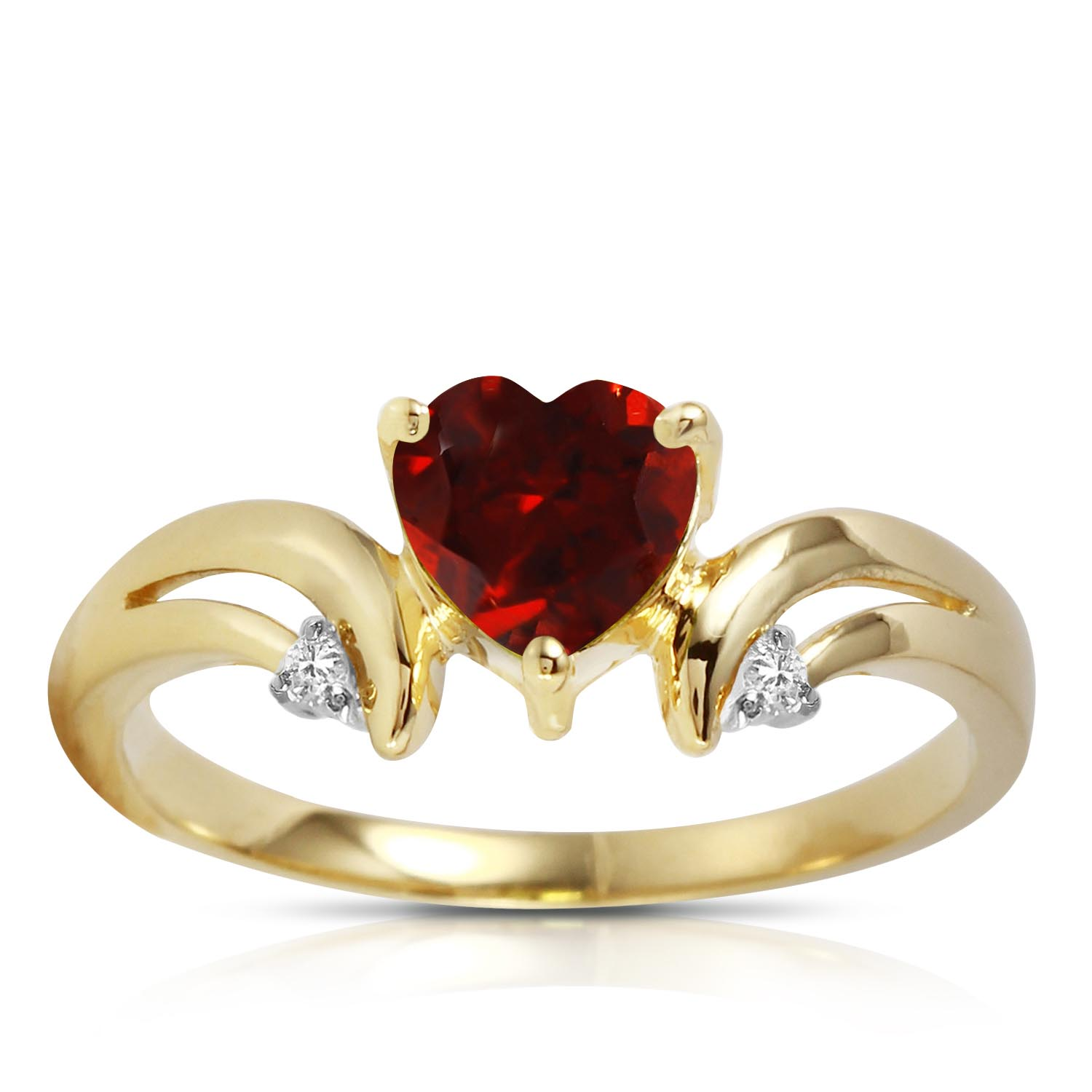 Garnet and Diamond Ring 1.25ct in 9ct Gold