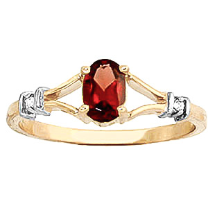 Garnet and Diamond Aspire Ring 0.45ct in 9ct Gold