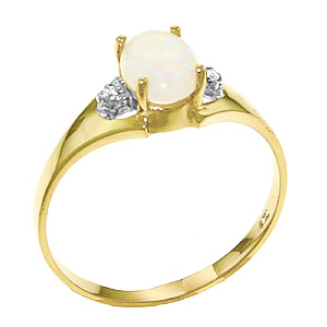 Opal and Diamond Desire Ring 0.45ct in 9ct Gold