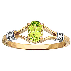 Peridot and Diamond Aspire Ring 0.45ct in 9ct Gold
