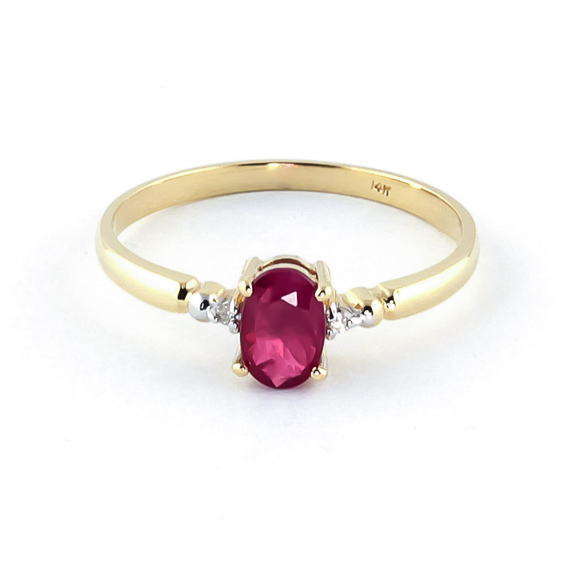 Ruby and Diamond Allure Ring 0.5ct in 9ct Gold