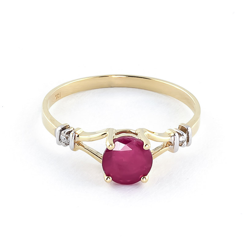 Ruby and Diamond Aspire Ring 1.0ct in 9ct Gold