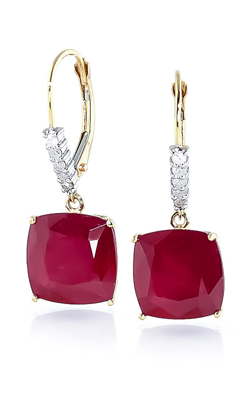 Ruby and Diamond Rococo Drop Earrings 9.4ctw in 9ct Gold