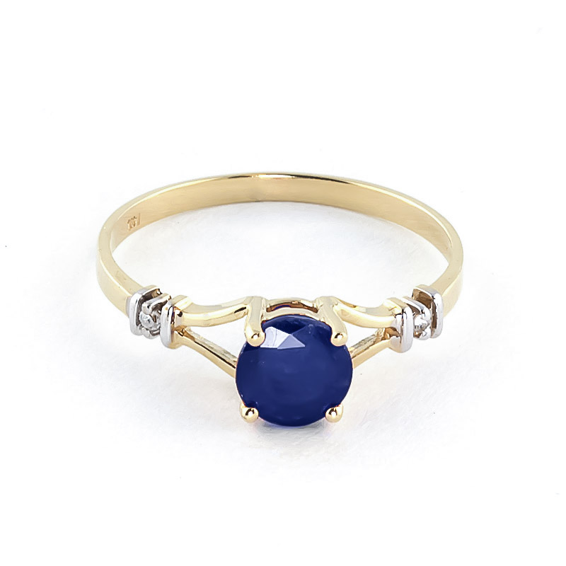 Sapphire and Diamond Aspire Ring 1.0ct in 9ct Gold