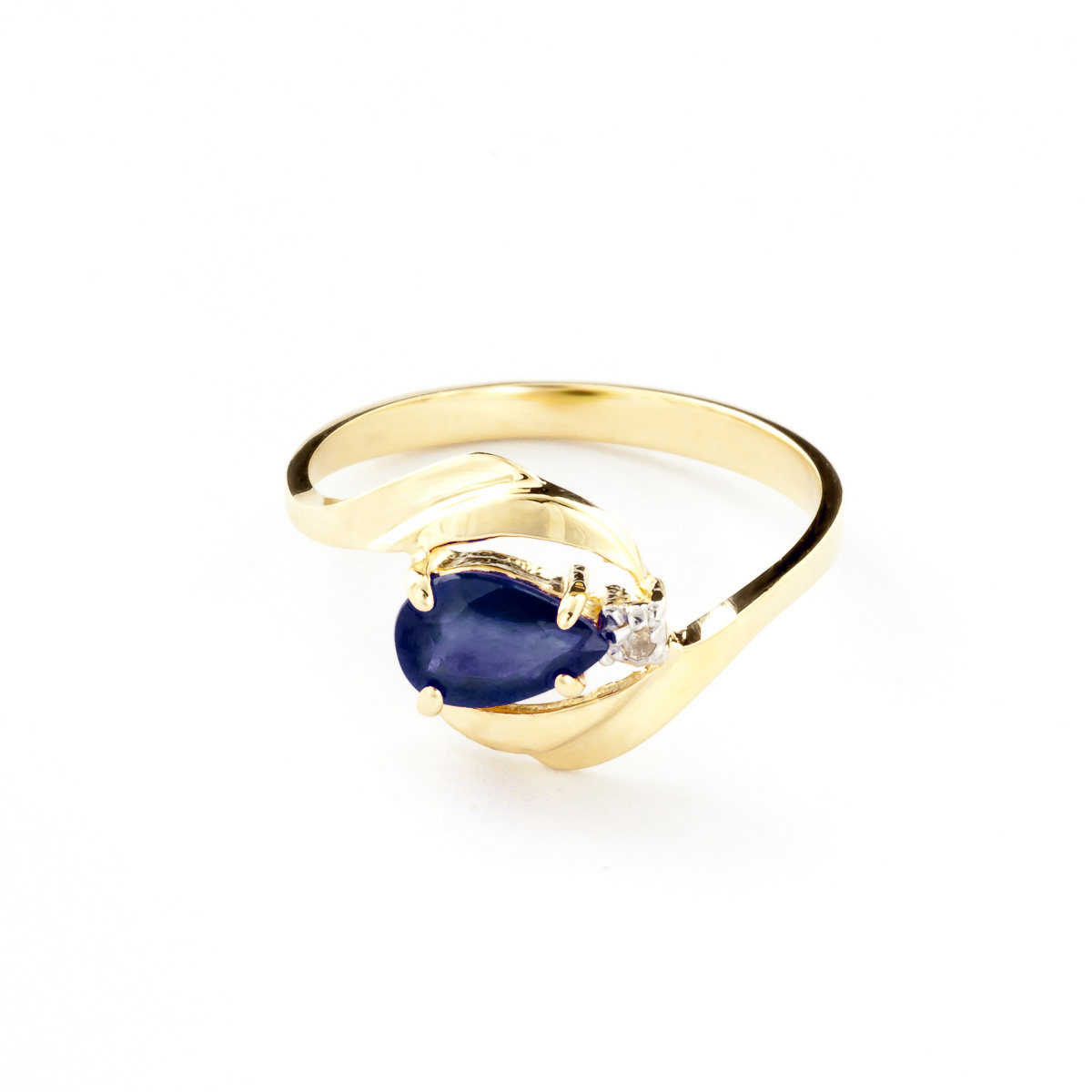 Sapphire and Diamond Flare Ring 0.5ct in 9ct Gold