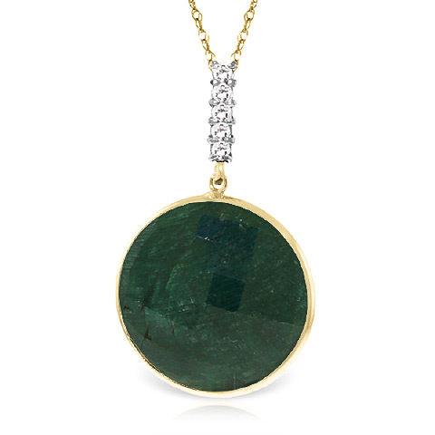 Corundum and Diamond Pendant Necklace 23.0ct in 9ct Gold