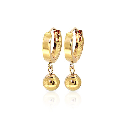 Ball Huggie Earrings in 9ct Gold
