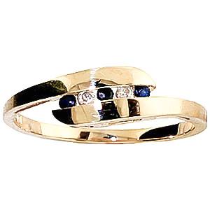 Diamond and Sapphire Precision Set Channel Set Ring in 9ct Gold