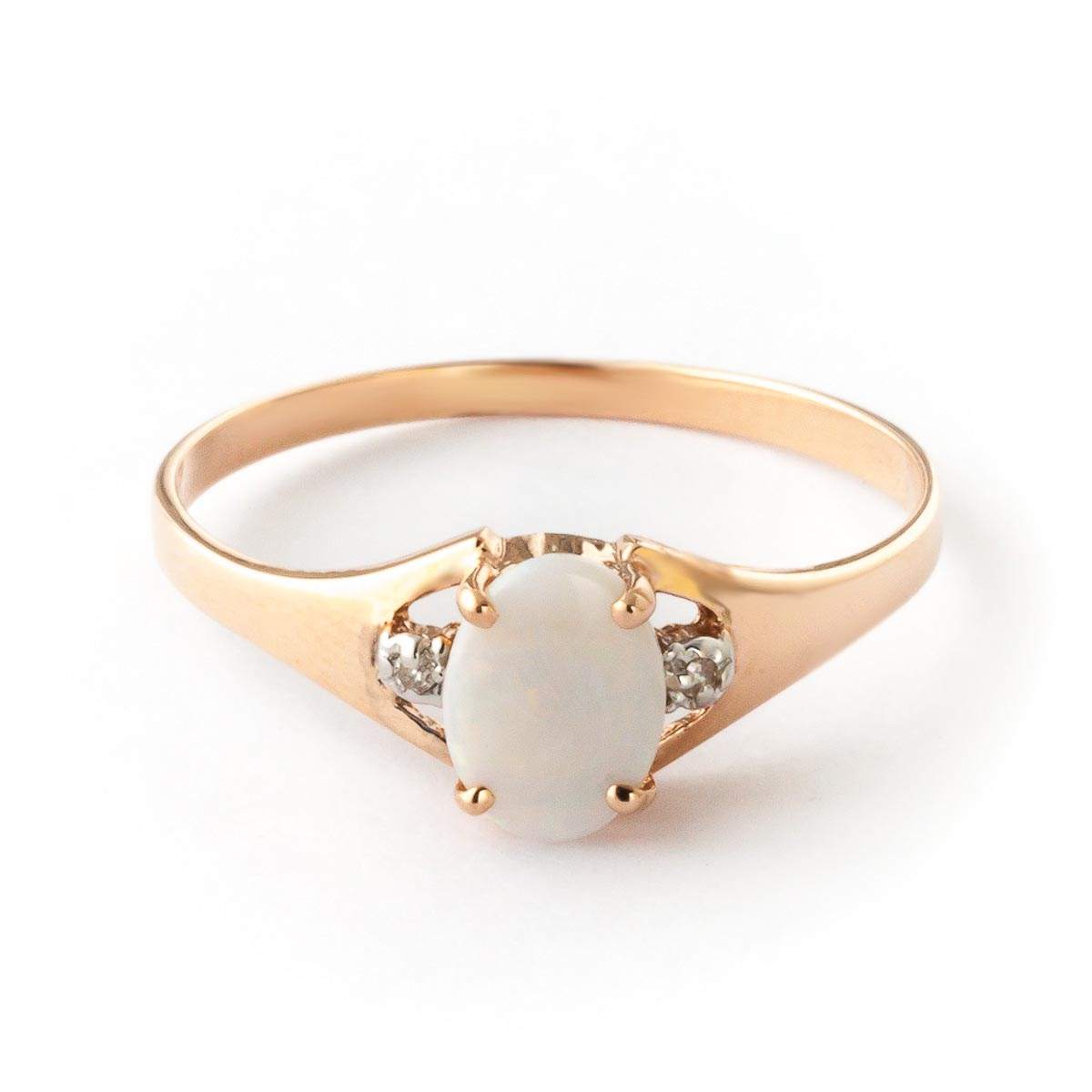 Opal & Diamond Desire Ring in 18ct Rose Gold