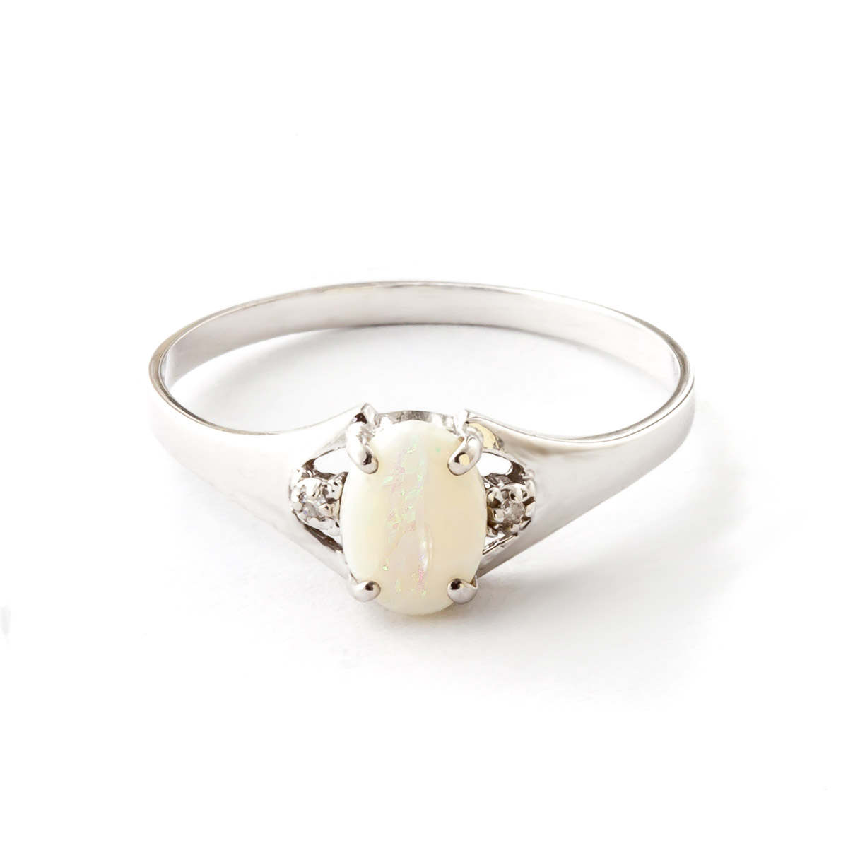 Opal & Diamond Desire Ring in 18ct White Gold