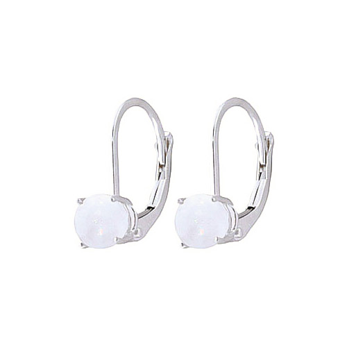 Opal Boston Drop Earrings 0.7 ctw in 9ct White Gold