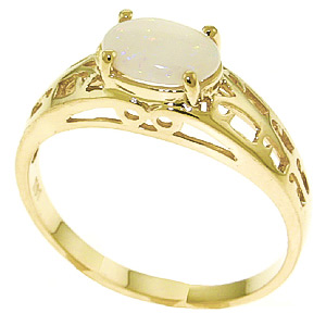 Opal Catalan Filigree Ring 0.45 ct in 18ct Gold