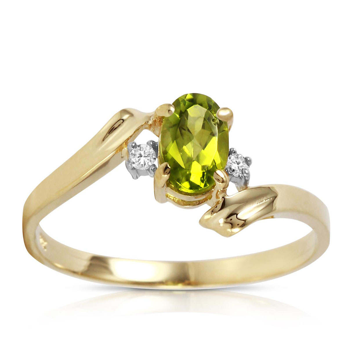 Peridot & Diamond Embrace Ring in 18ct Gold