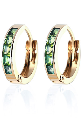 Peridot Huggie Earrings 1 ctw in 9ct Gold