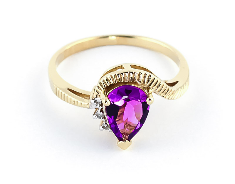 Pink Topaz & Diamond Belle Ring in 9ct Gold