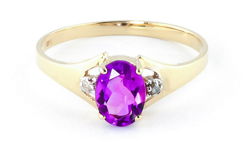 Pink Topaz & Diamond Desire Ring in 9ct Gold