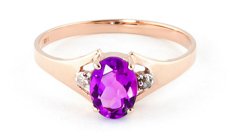 Pink Topaz & Diamond Desire Ring in 18ct Rose Gold