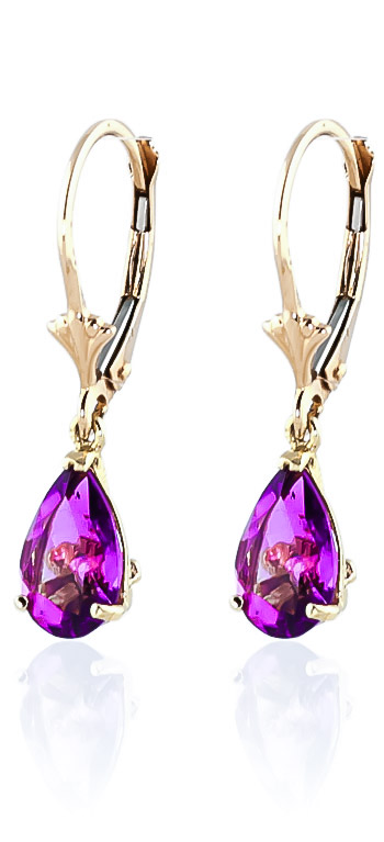 Pink Topaz Belle Drop Earrings 2.85 ctw in 9ct Gold