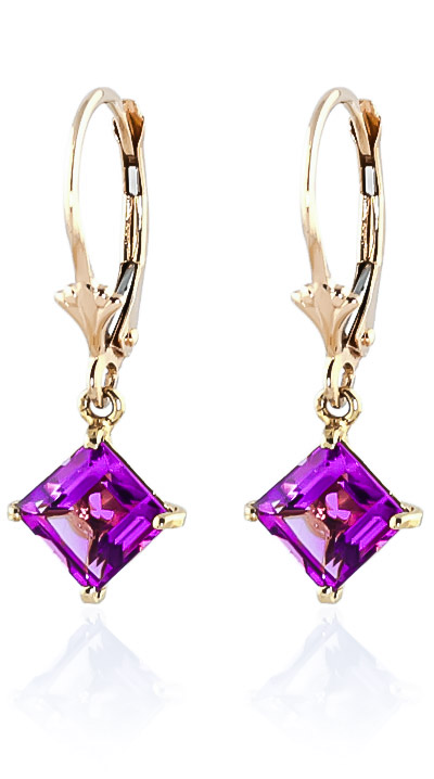 Pink Topaz Drop Earrings 3.2 ctw in 9ct Gold