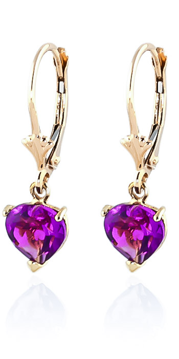 Pink Topaz Drop Earrings 3.25 ctw in 9ct Gold