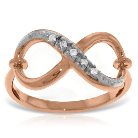 Diamond Infinite Ring in 9ct Rose Gold