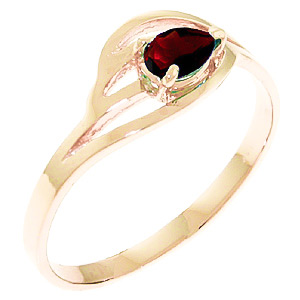 Pear Cut Garnet Ring 0.3ct in 9ct Rose Gold
