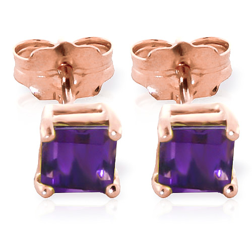 Stockists of Amethyst Alexandra Stud Earrings 0.65ctw in 9ct Rose Gold