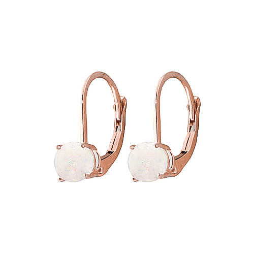 Opal Boston Drop Earrings 0.7ctw in 9ct Rose Gold
