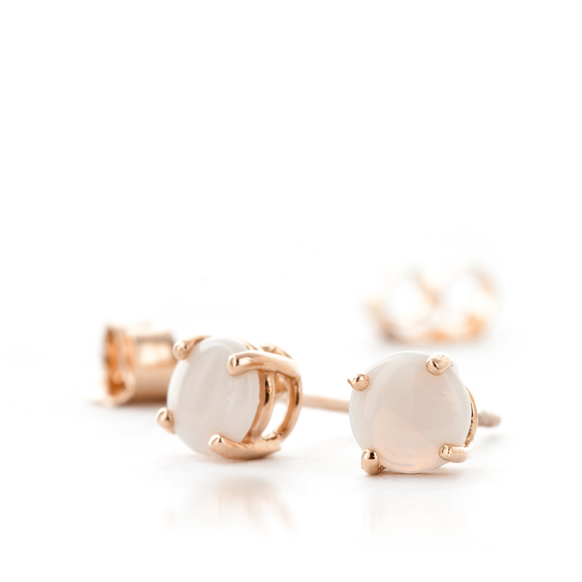 Opal Stud Earrings 0.7ctw in 9ct Rose Gold