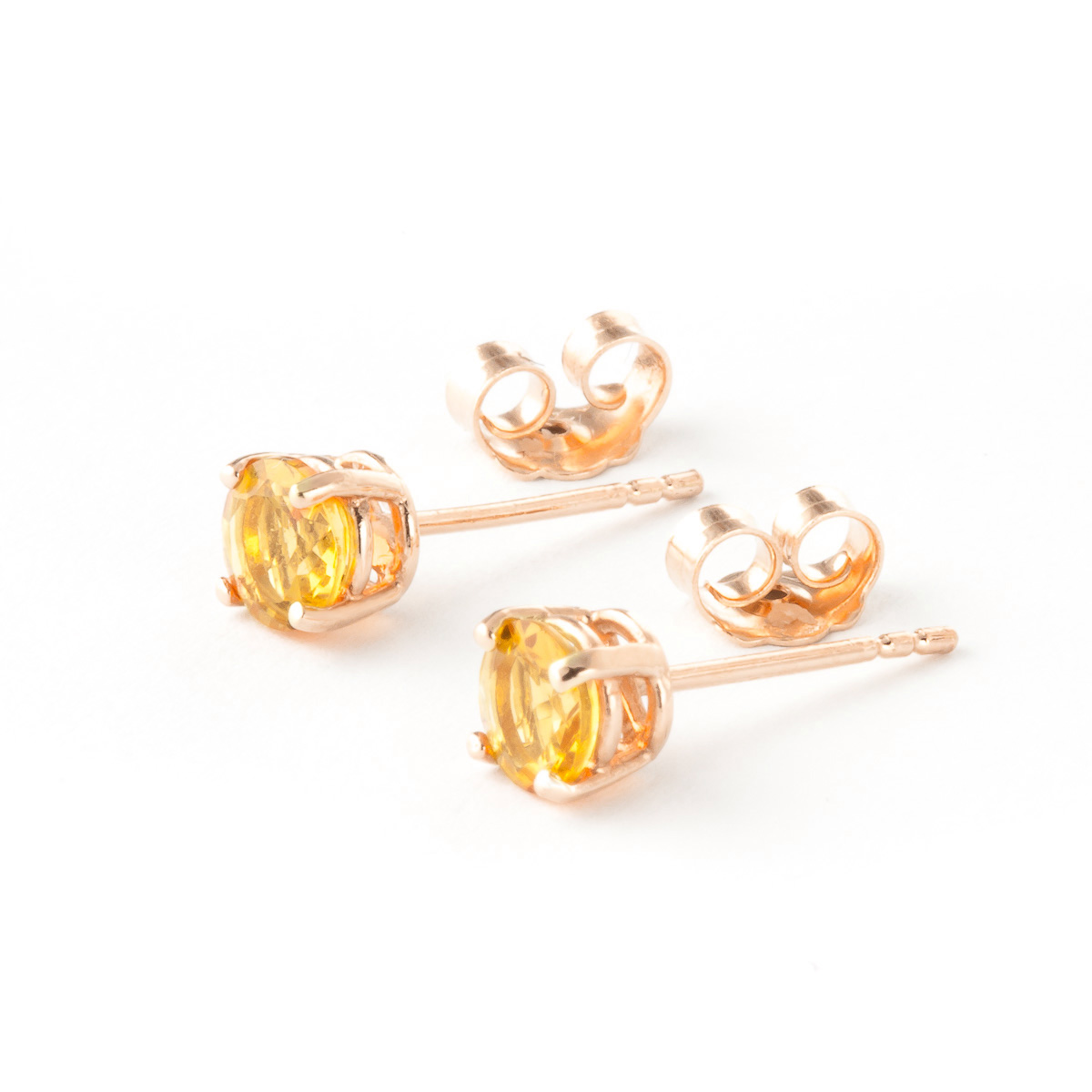 Citrine Stud Earrings 0.95ctw in 9ct Rose Gold