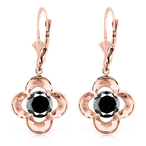 Diamond Drop Earrings in 9ct Rose Gold