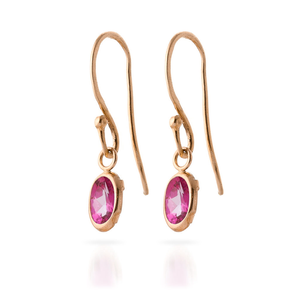 Pink Topaz Allure Drop Earrings 1.0ctw in 9ct Rose Gold