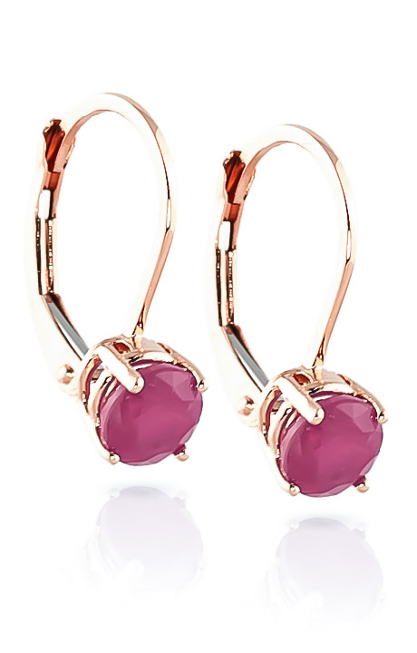Ruby Boston Drop Earrings 1.2ctw in 9ct Rose Gold