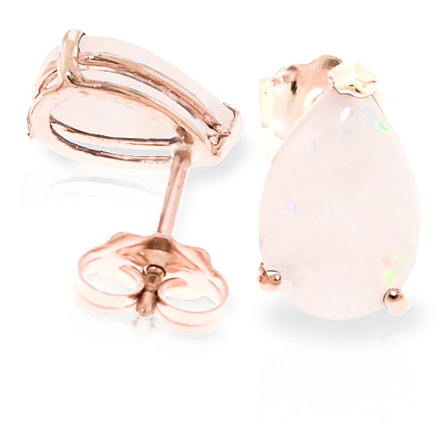 Opal Stud Earrings 1.55ctw in 9ct Rose Gold